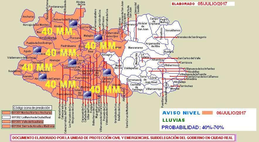 Este es el panorama para el oeste y el centro de la provincia para mañana /Protección Civil