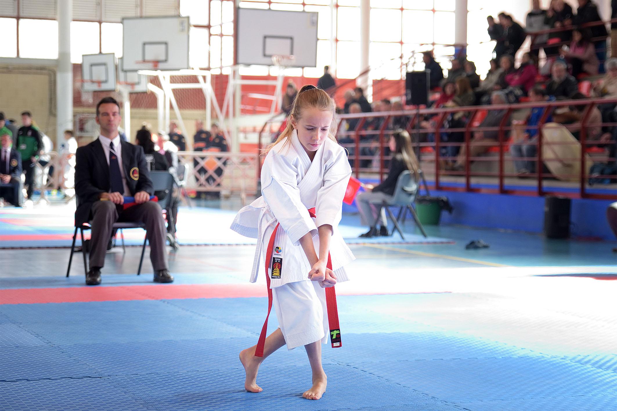 Interprovincial Escolar de karate en Argamasilla de Alba