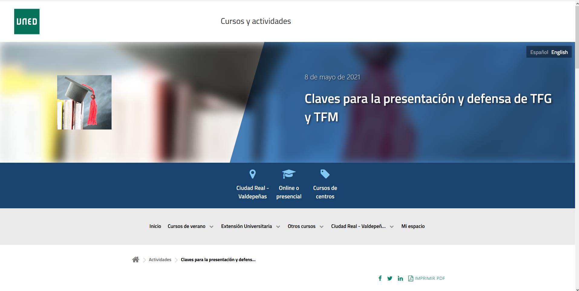 La Uned De Valdepenas Dara Claves Para Presentar Y Defender El Trabajo Fin De Grado Y El Trabajo Fin De Master Lanza Digital Lanza Digital