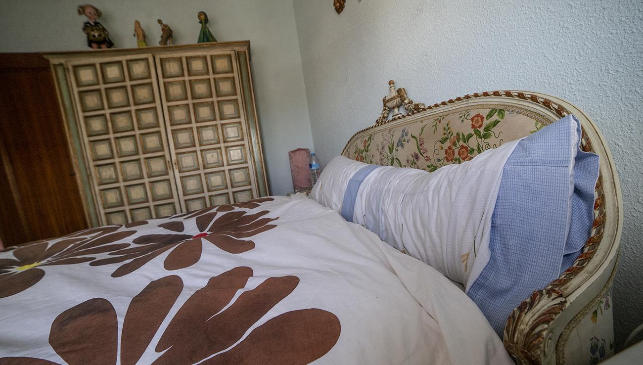 Cama original de Sara Montiel, en la habitación donde dormía en Quintanar de la Orden / Clara Manzano